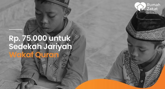 Sedekah Jariyah Paket Al-Quran Pelosok Indonesia