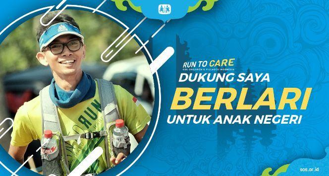 Erditya berlari 150KM untuk Mimpi Anak Indonesia