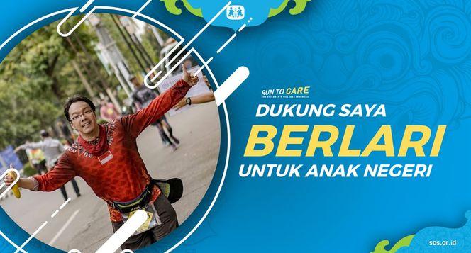 Amen berlari 150KM untuk Mimpi Anak Indonesia