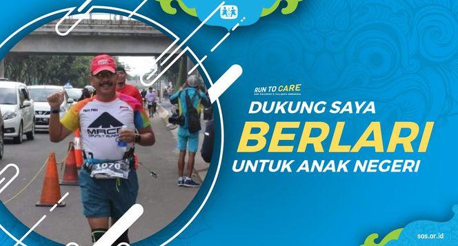 Paulus berlari 150KM untuk Mimpi Anak Indonesia