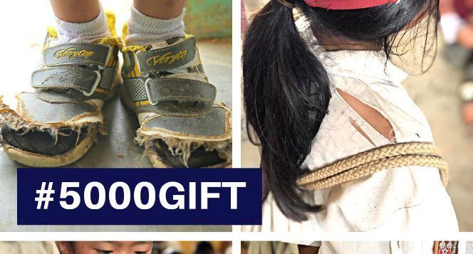 #5000gift untuk anak pedalaman(Sepatu,tas,seragam)