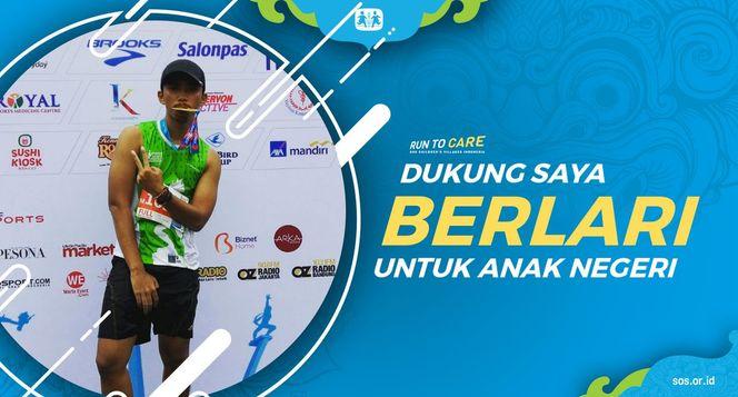 Fikri berlari 150KM untuk Mimpi Anak Indonesia
