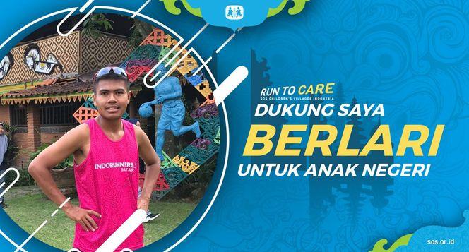 Ivandio Berlari 150KM untuk Mimpi Anak Indonesia
