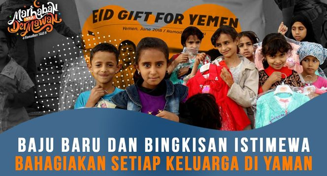 7.000 Parsel Lebaran untuk Idul Fitri Warga Yaman