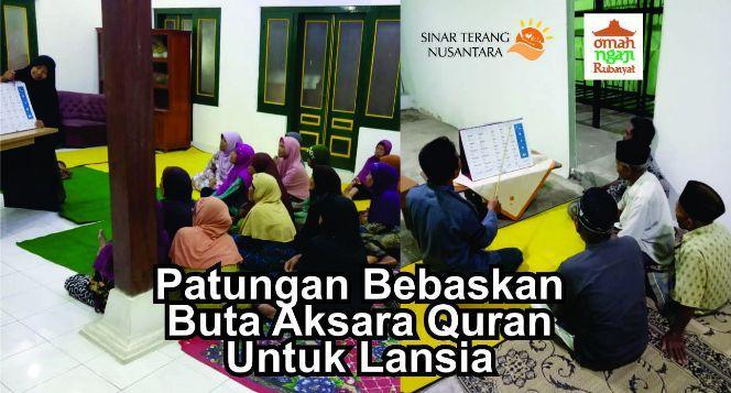 Patungan Bisa Baca Quran untuk Lansia