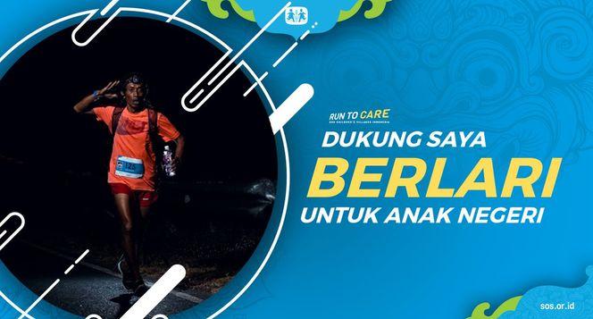 Cokro berlari 150KM untuk Mimpi Anak Indonesia