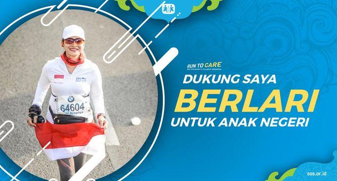 Fitri berlari 150KM untuk Mimpi Anak Indonesia