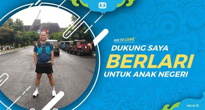 Jojo berlari 150KM untuk Mimpi Anak Indonesia