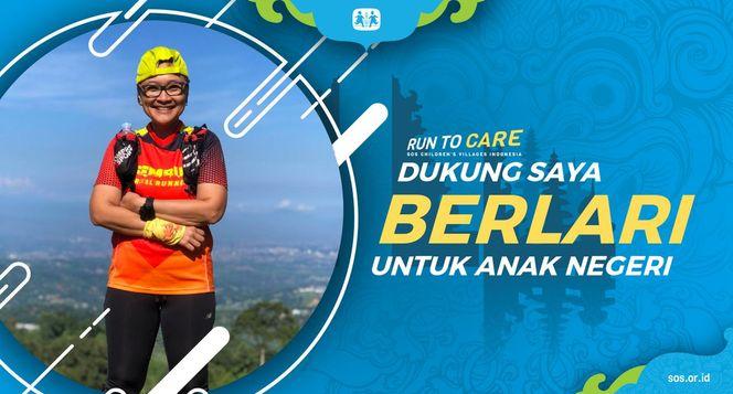 Melani berlari 150KM untuk Mimpi Anak Indonesia