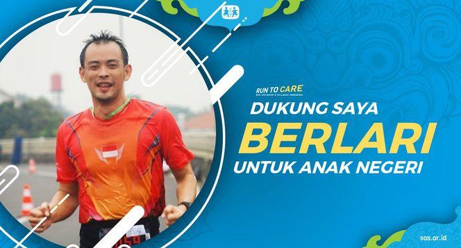 Thomas berlari 150KM untuk Mimpi Anak Indonesia