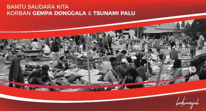 Bantu saudara kita di Donggala & Palu