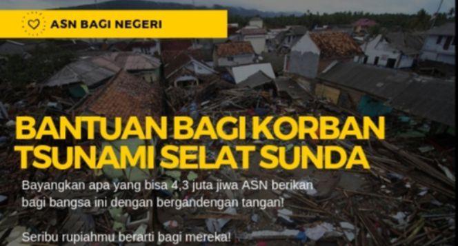 #ASNbaginegeri (Untuk korban Tsunami Selat Sunda)