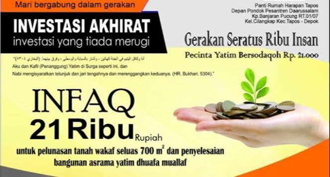 Wakaf Tanah untuk Pesantren Yatim Penghafal Qur'an