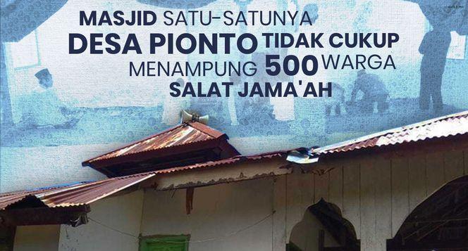 Masjid untuk 500 Muslim di Pelosok Gorontalo