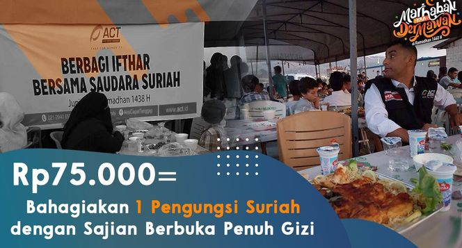 Antar Paket Ifthor untuk 420.000 Pengungsi Suriah