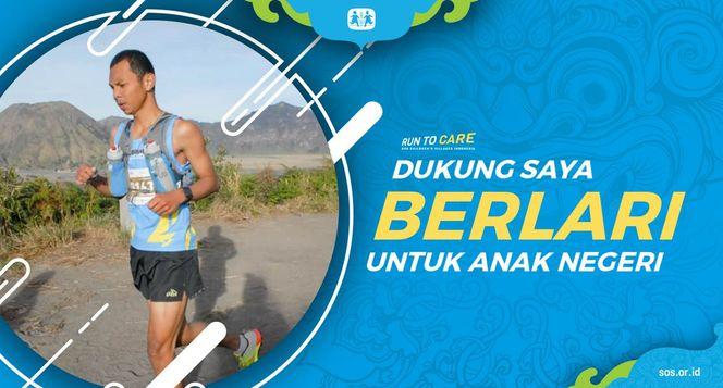 Ridwan berlari 150KM untuk Mimpi Anak Indonesia