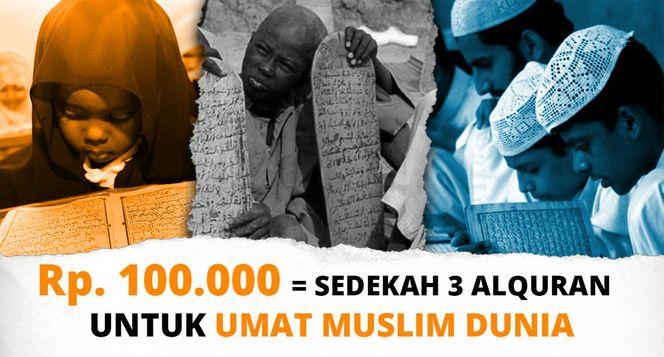 Bagikan Quran Sedekah Jariah Terbaik untuk Umat