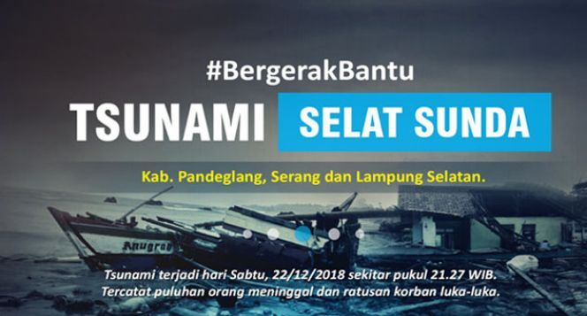 Bergerak Bantu Korban Tsunami Selat Sunda