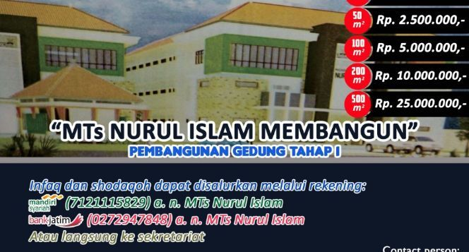 Madrasah Tsanawiyah Membangun Gedung
