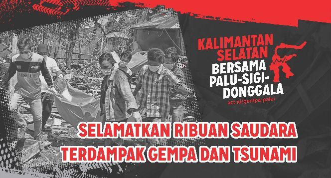Kalimantan Selatan Bersama Palu, Sigi, Donggala