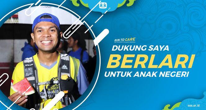 Stefanus Berlari 150KM untuk Mimpi Anak Indonesia