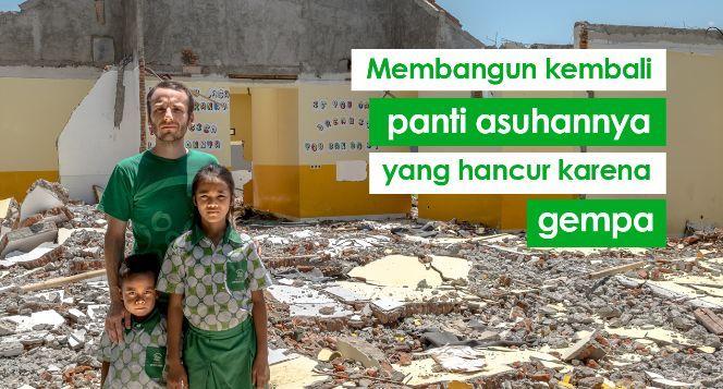 Bantu Anak Yatim Karena Gempa Lombok