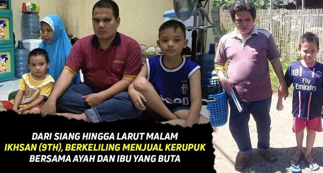 Bantu Ikhsan dan Kedua Orangtuanya yang Buta