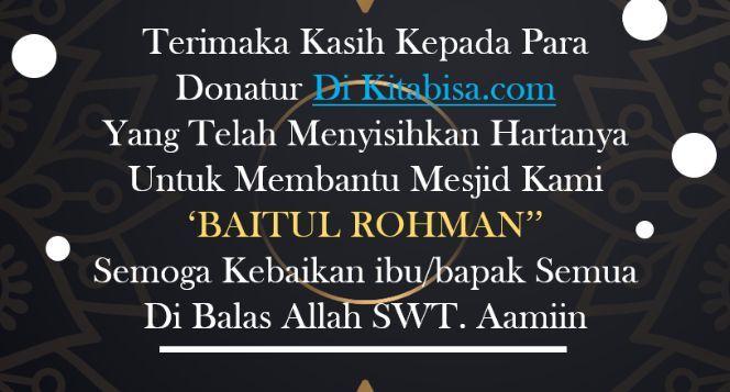 (Bantu) Mesjid Baitul Rohman Renovasi & Perluasan