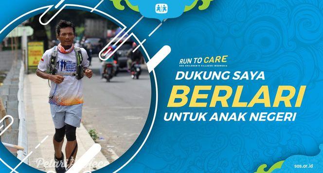 Suparmin Berlari 150KM untuk Mimpi Anak Indonesia