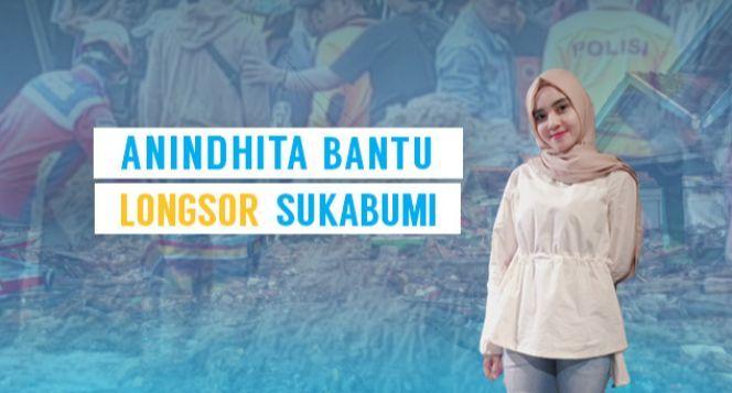 Anindhita Bantu Korban Longsor Sukabumi