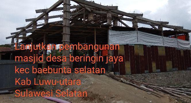 (PENTING)lanjutkan pembangunan masjid bebas banjir