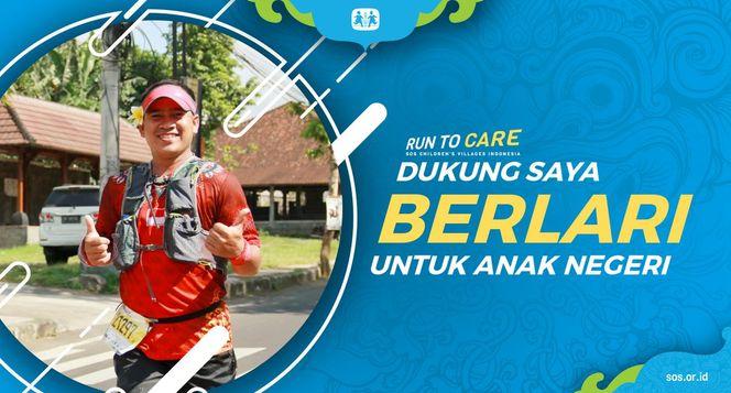 Emil berlari 150KM untuk Mimpi Anak Indonesia