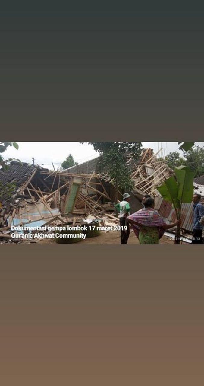 Kerusakan akibat gempa 17 Maret 2019 di Lombok
